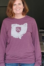 Bella Long Sleeve Tri Blend Tee State
