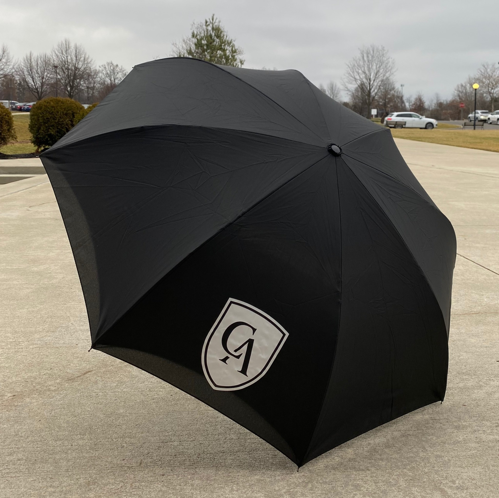 Haas-Jordan Haas-Jordan Reversible Umbrella 48 in. Black