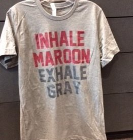 Next Level Next Level adult unisex inhale maroon/exhale grey tee
