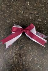 Schoolbelles Schoolbelles Triple Bow Maroon/white/plaid