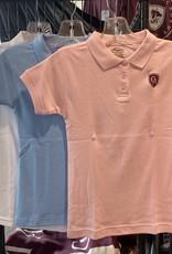 Classroom Girls Classroom Uniform Short Sleeve Interlock Polo with Shield