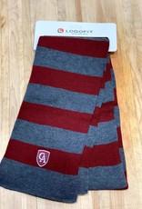 LogoFit Logofit Niagara striped knit scarf