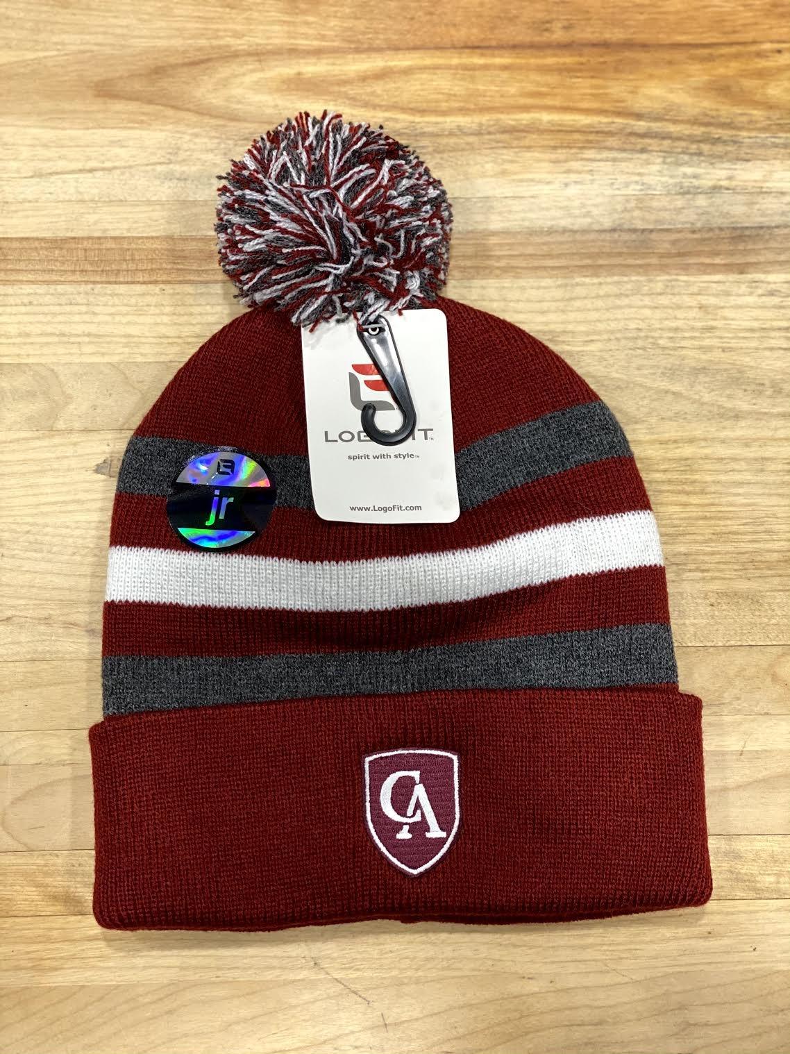 LogoFit Logofit Halftime striped youth pom hat