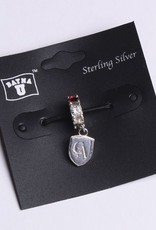 Dayna U Wholesale Sterling Silver Crystal and Shield Charm