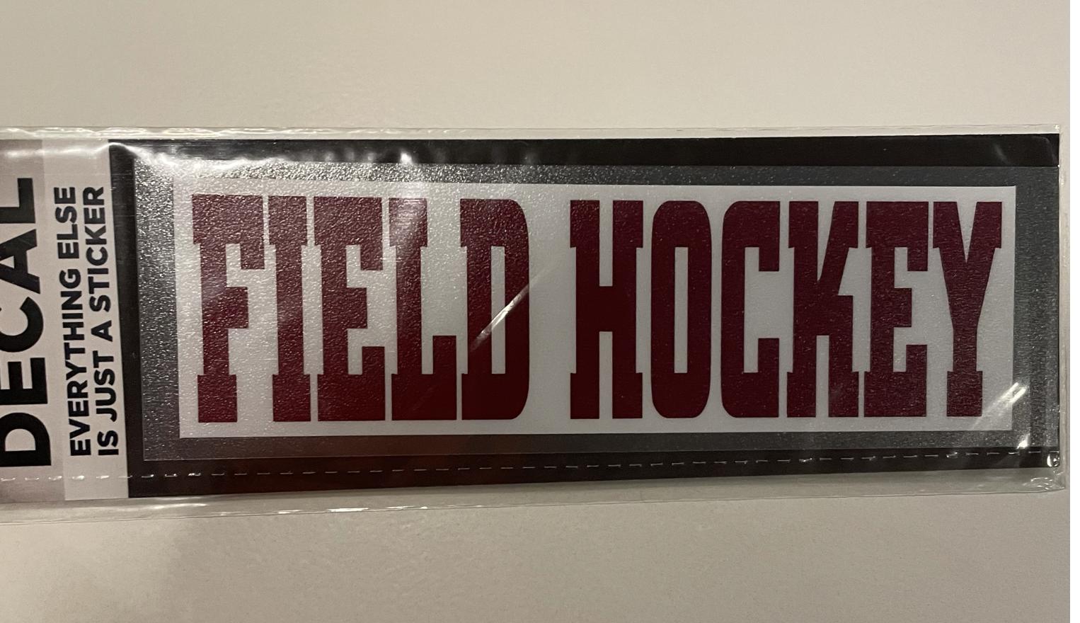 Colorshock Colorshock Field Hockey car stickers-rectangular