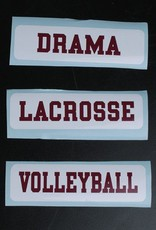 Colorshock Colorshock Field Hockey car stickers - rectangular