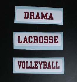 Colorshock Colorshock Field Hockey car stickers - rectangular