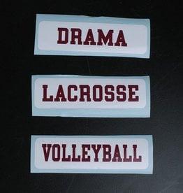 Colorshock Colorshock Lacrosse car stickers - rectangular