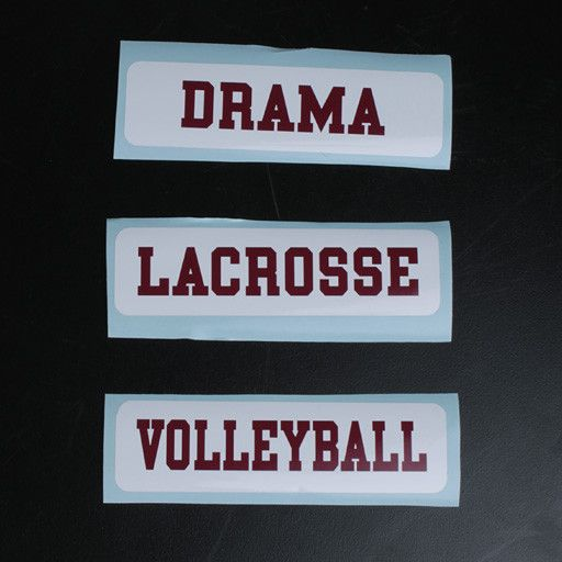 Colorshock Colorshock Volleyball car stickers - rectangular