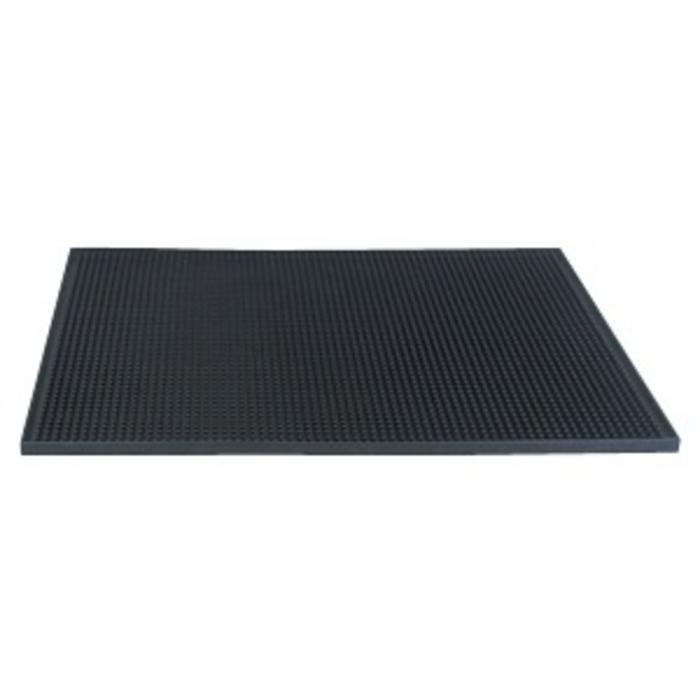 Service Bar Mat, Black, 12 x 18 in.