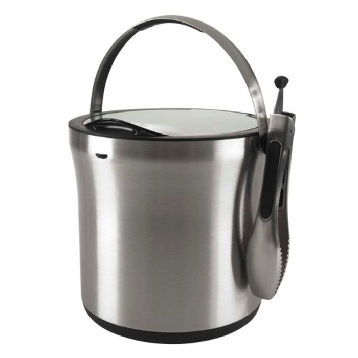 OXO SteeL Ice Bucket and Tongs Set