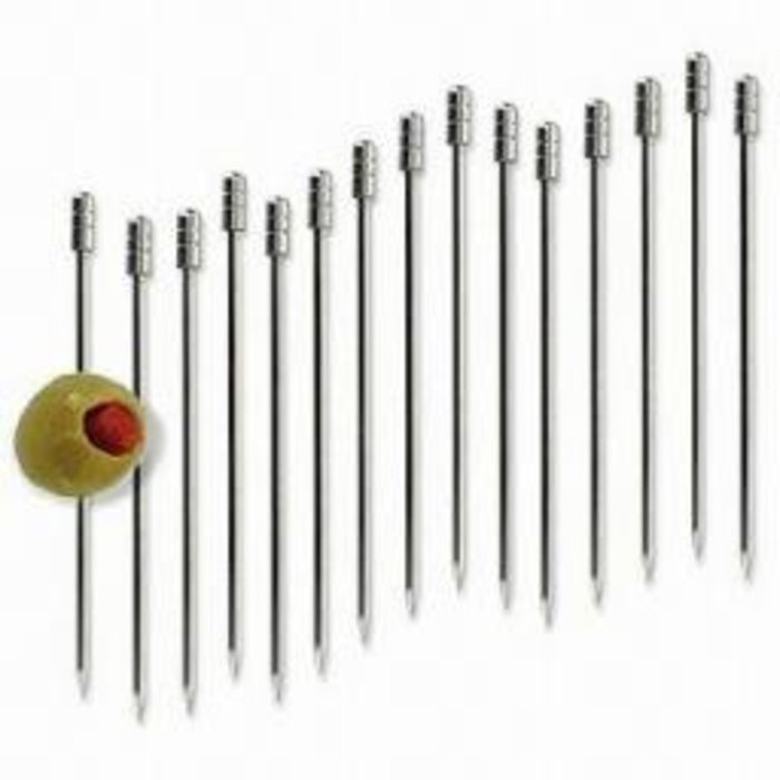RSVP Stainless Steel Cocktail Pick Set, 16