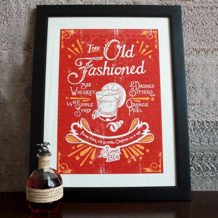 "The Old Fashioned Print, 18"" x 24"