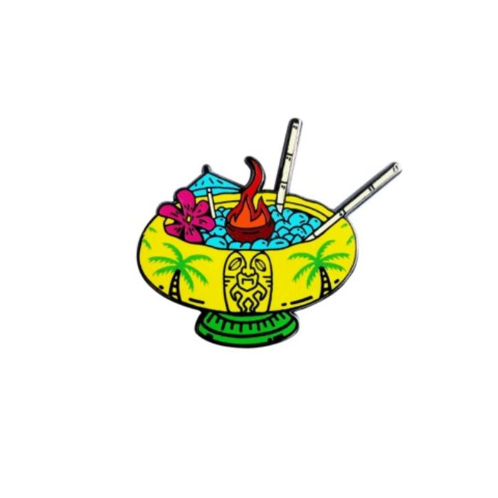 Scorpion Bowl Pin, Enamel