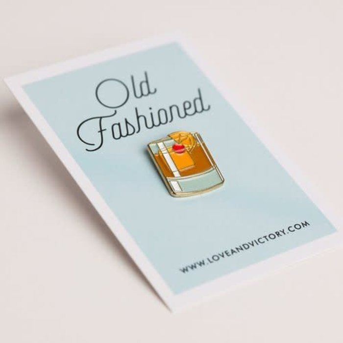Love & Victory Old Fashioned Pin