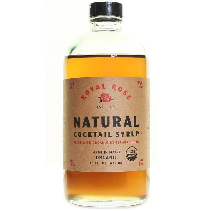 Royal Rose Natural Demerara Syrup, 16 oz.