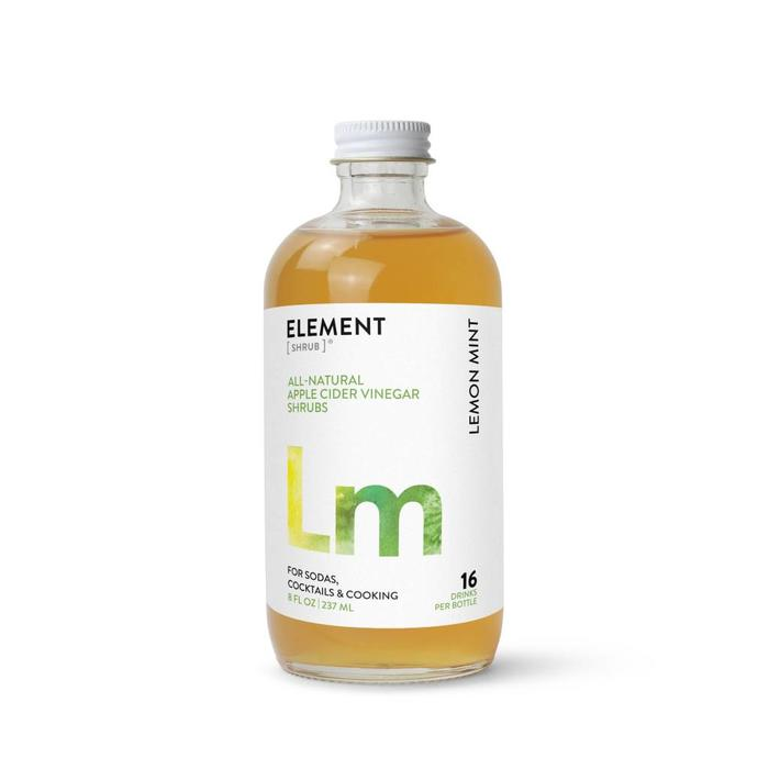 Element Shrub Lemon Mint Shrub, 8oz