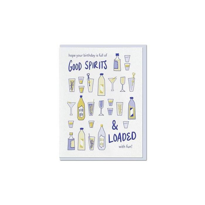 "Violet Press ""Good Spirits"" Letterpress Greeting Card"