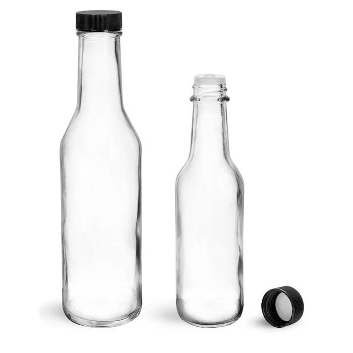 Traditional Clear Glass Bitters Bottles w/ dasher, 5 oz.