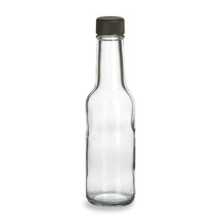 Clear Glass Bitters Bottles w/ dasher, 5 oz.