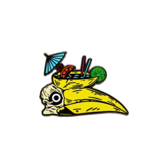 Jungle Bird Pin, Enamel
