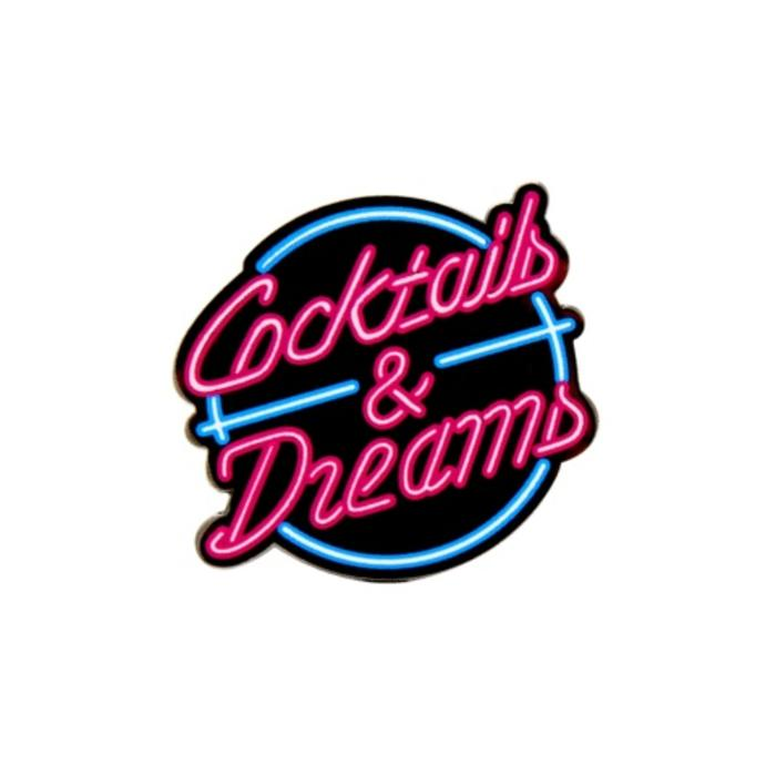 Cocktails & Dreams Pin, Enamel