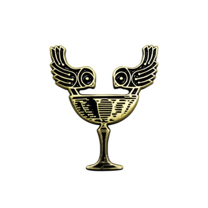 Two Birds, One Coupe Pin, Enamel