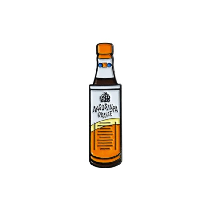 Orange Angostura Bottle Pin, Enamel