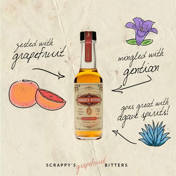Scrappy's Grapefruit Bitters, 5 oz.