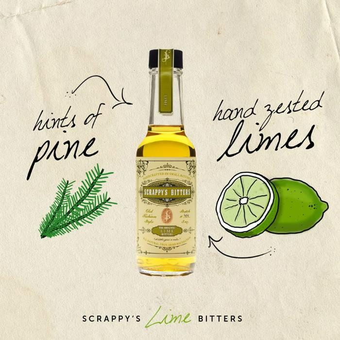 Scrappy's Lime Bitters, 5 oz.