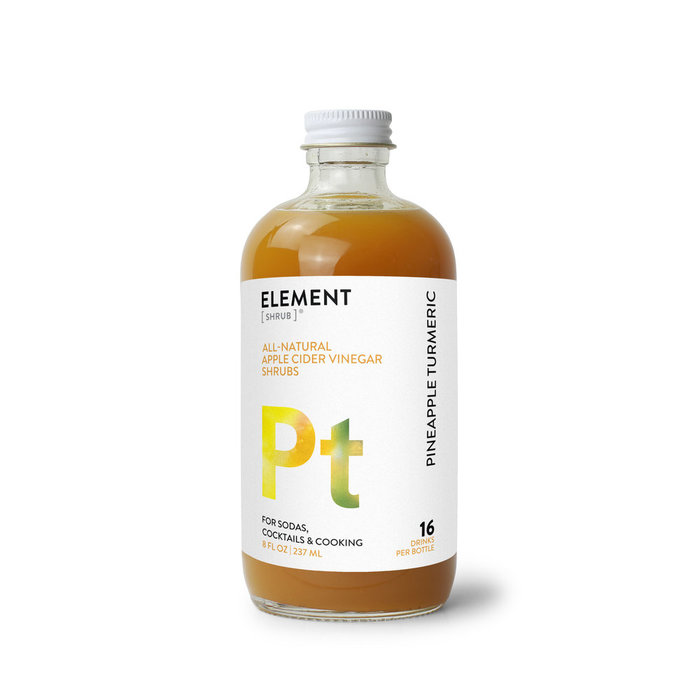 Element Pineapple Tumeric Shrub, 8oz