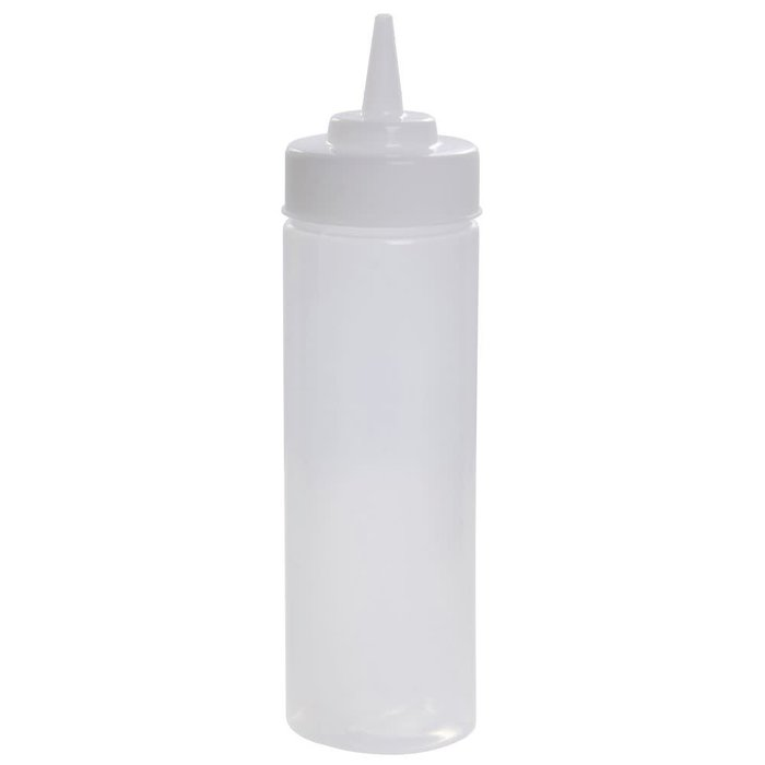 Widemouth Squeeze Bottle, 12oz w/ Cap