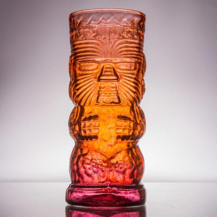 Hand-Blown Glass Tiki Mug, Warrior
