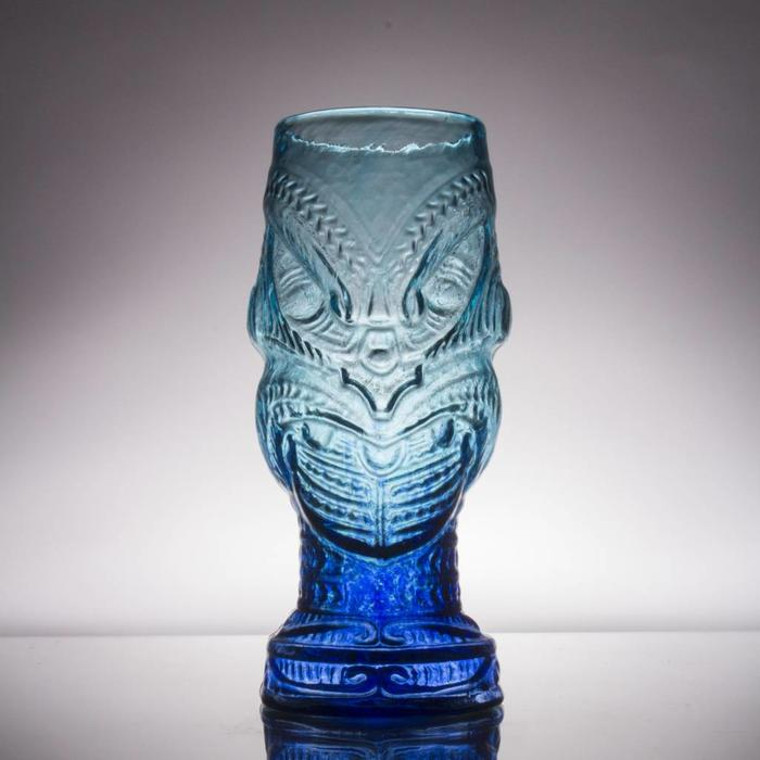 Hand-Blown Glass Tiki Mug, Head Hunter