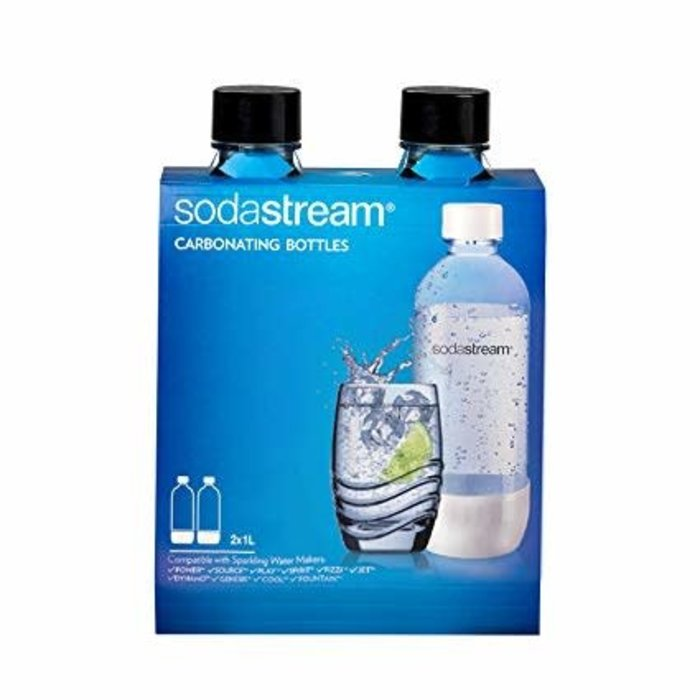 Sodastream Carbonating Bottles - 1L, Black (twinpack)