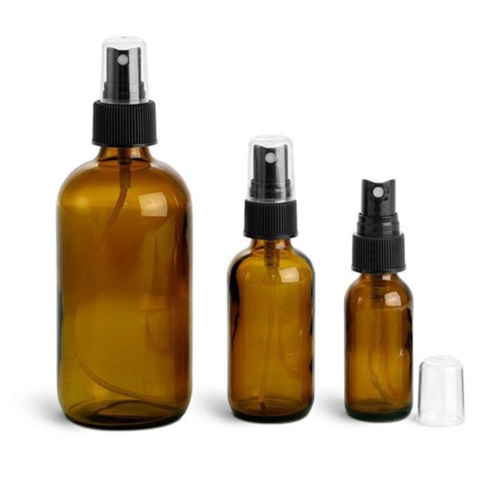 Amber Spray Bottles, 2 oz.