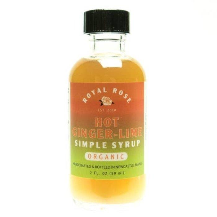 Hot Ginger-Lime Syrup, 2oz.
