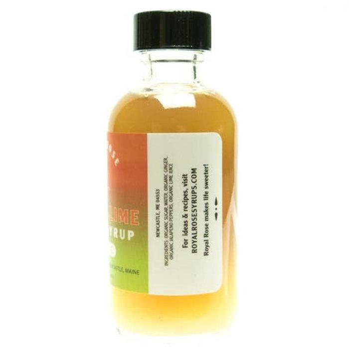 Royal Rose Hot Ginger-Lime Syrup, 2oz.