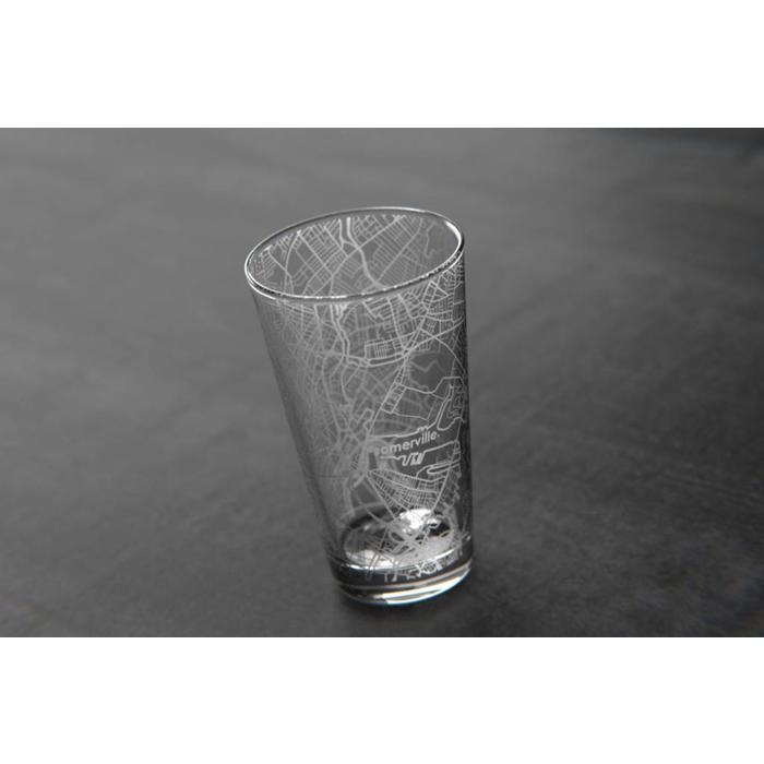 Maps Pint Glass - Somerville, by The Uncommon Green