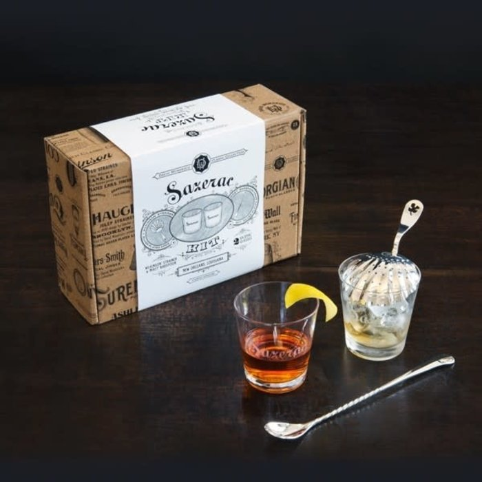 David Wondrich Sazerac Kit, 2 glasses, Spoon & Julep Strainer