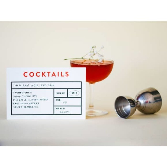 Cocktail Recipe Cards, 12pk