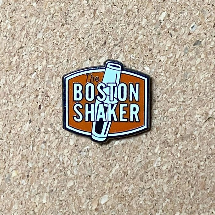 The Boston Shaker Pin, Enamel