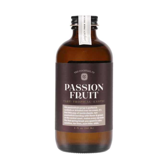 Yes Cocktail Co. California Grown Passion Fruit Syrup, 8oz
