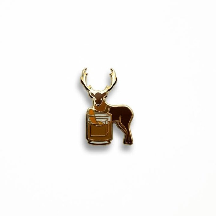 Buck Fashioned Pin, Enamel