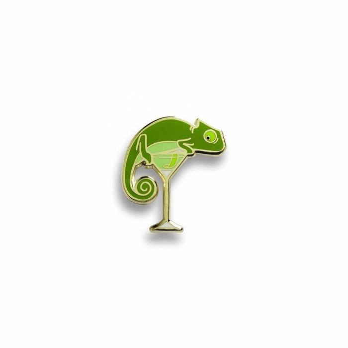 Chameleon's Last Word Pin, Enamel