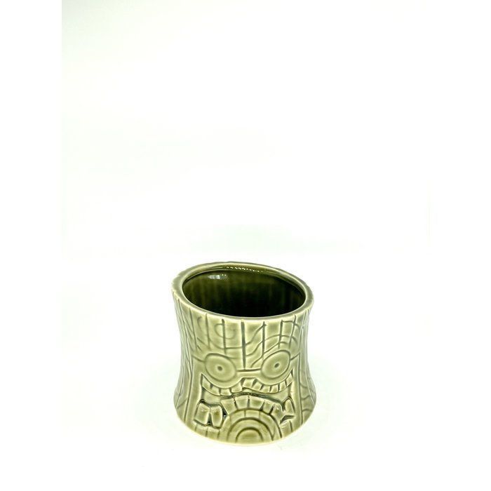 Short and Stubby Ceramic Tiki Mug, 8oz