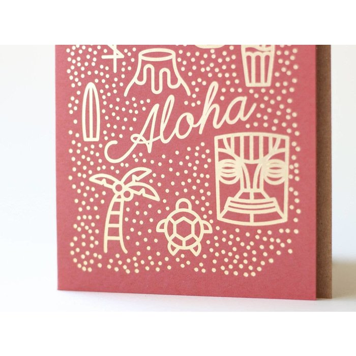 "MC Pressure ""Aloha"" Letterpress Greeting Card"