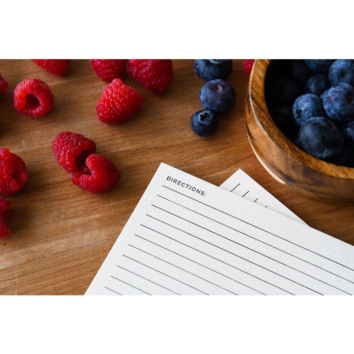 MC Pressure Letterpress Recipe Cards, 13pk
