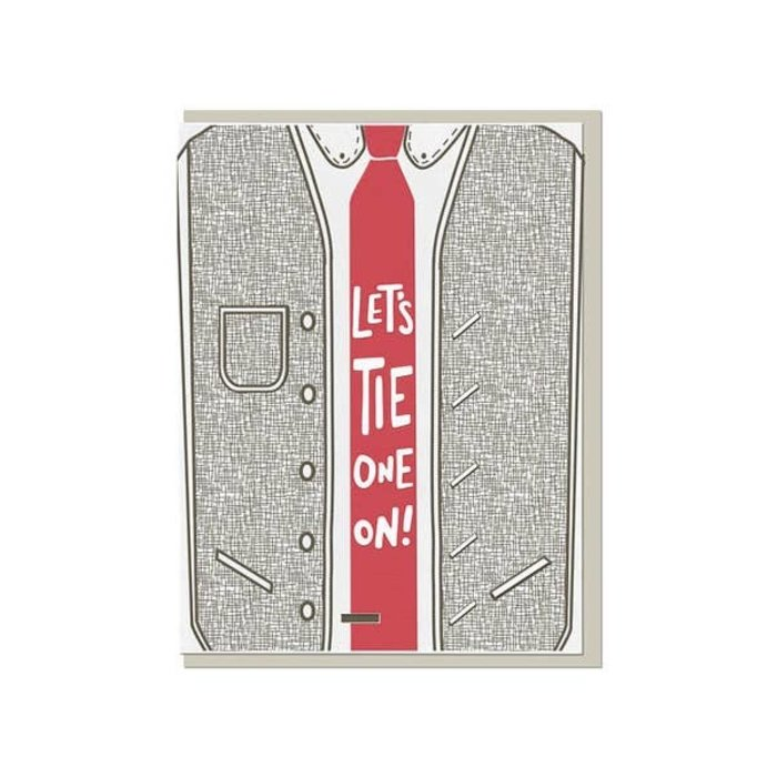 "Violet Press ""Tie One On"" Greeting Card"