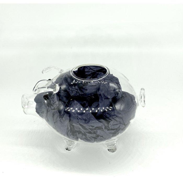 Clear Piggy Glass Tiki Mug, 13oz